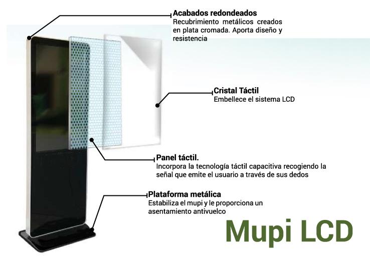 MUPI LCD TÁCTIL 42 pulgadas