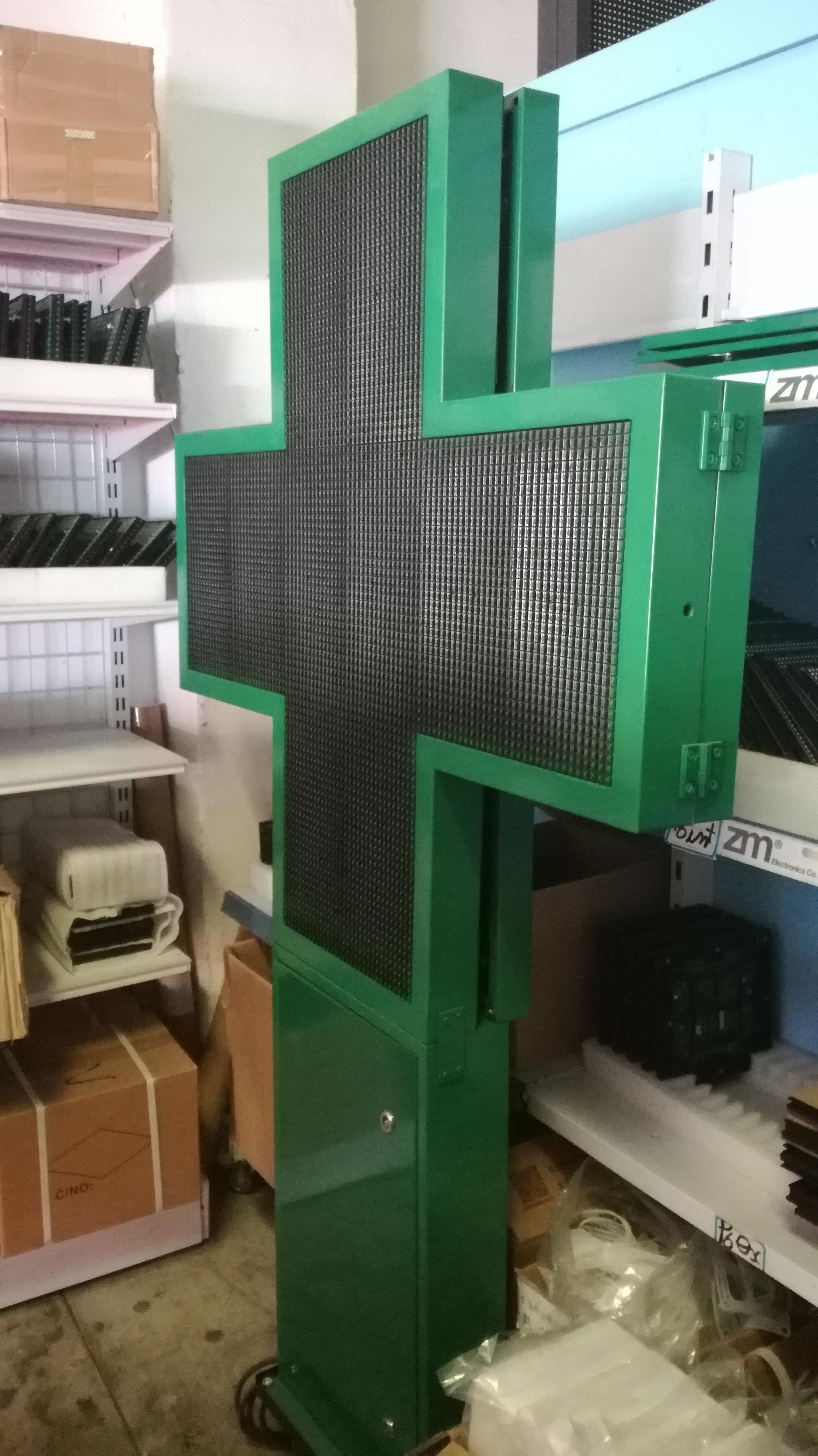 CRUZ DE FARMACIA FULL COLOR P6 65X65cm
