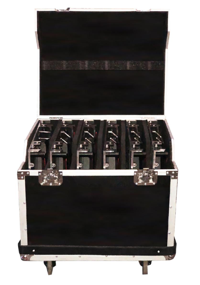 Flight case p/placas 640x640mm (6 piezas)